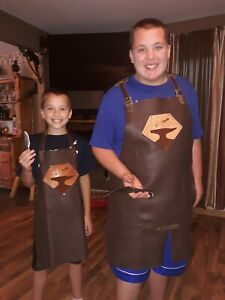 Kid's Protective Leather Shop Apron ideal for ages 8-11.