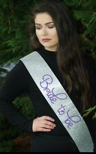 Hen Party Sash - Bride To Be - Classy Silver Glitter - Hen Do Accessories