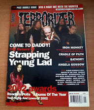 Terrorizer Magazine Issue 106 Strapping Young Lad Iron Monkey Cradle of Filth
