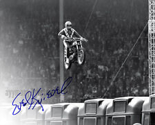 Evel Knievel 8x10 Autographed Black & White Photograph - RP