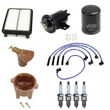 For Toyota Pickup 4Runner 2.4L Air Fuel & Oil Filters w/ Spark Plugs & Wires