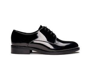 Chaussure végane derby bout uni rond élégant noir doublée respirante et flexible