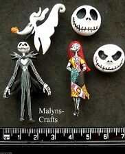 Disney NIGHTMARE BEFORE CHRISTMAS Craft Buttons 1ST CLASS POST Jack Skellington