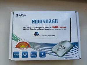 Awus036H carte Wifi USB Alfa Network 1000 mW et antenne 5 dBi