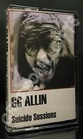 GG Allin - Suicide Sessions Cassette Tape TPOS Records 18 Songs 1989 Punk Rock