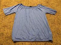 GAP Women's Blouse Shirt Size XS Color Blue Short Sleeve Top Pima Cotton