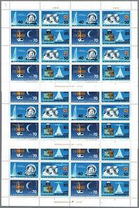 DDR 1986 Mi. 3005-08 ** 3 Bogen Zusammendrucke Zd (FN 4,5,6), 150 €