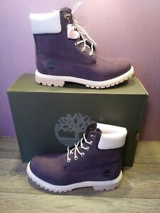 Timberland Womens 6inch Dark Purple Nubuck Premium WP Boot OA2FQ8