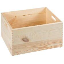 ALLZWECKKISTE HOLZ BOX HOLZBOX mit Handgirff KASTEN 40x30x24 ROHHOLZ UNBEHANDELT