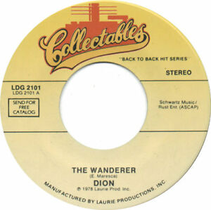 """DION & THE BELMONTS - The Wanderer  7""""  45"""