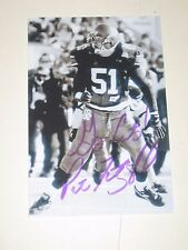 Northwestern Wildcats PAT FITZGERALD Signed 4x6 Photo AUTOGRAPH