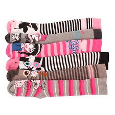 3 x Girls Kids Children Wellington Welly Animal Print Thermal Warm Long Socks