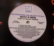"""BOYZ II MEN ~ Cant Let Her Go REMIXES ~ 12"""" Single USA PRESSING  PROMO"""