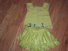 NWT Gymboree Greek Isle Style LOT Tulle Skirt Mermaid Scenic Swing Top Shirt 24