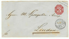 Wurttemberg cover - 1871 Stuttgart to Lindau - cover671