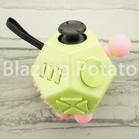 12 Side Fidget Cube Stress Anxiety Relief Figet Desk Toy Focus ADHD ☆USA☆ GR/PK