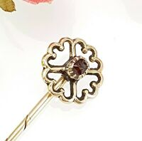 Antique / Vintage Solid Gold Stick Lapel Tie Pin