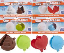 4 Emoji Snowball Maker Sno-Moji Snow Ball Easy Mold Poop Heart Faces Set Of 4