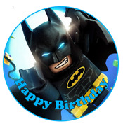 Batman lego edible Image cake topper 19cm real icing sheet #124