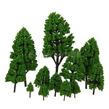 12 Mixed Model Tree Train Railway Architecture Forest Scenery Layout 3-16cm