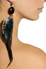 ~ ISABEL MARANT DANGLY FEATHER & BEAD DROP EARRINGS (THESE ARE AMAZING!) ~