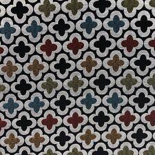 DESIGNTEX GEOMETRIC PERFORMANCE UPHOLSTERY FABRIC BUNTA BLACK LOTUS BY THE YARD