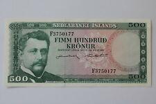 ICELAND 500 KRONUR 1961 UNC B20 BK300