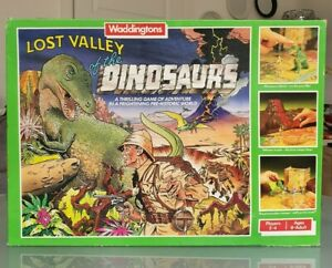 Lost Valley Of The Dinosaurs Waddingtons 1985 Complete Vintage Board Game Retro