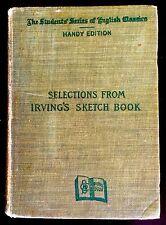ANTIQUE 1900 WASHINGTON IRVING SKETCH BOOK ISAAC THOMAS HANDY EDITION