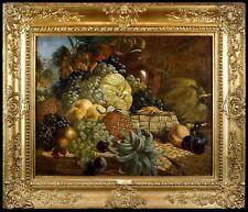 George Lance - Superb Large Still Life Oil Painting in Antique Gilt Frame