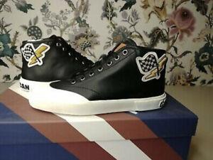 Bally Womens Sofia Flag Black Leather Shoes Size- EU38 (box 59)