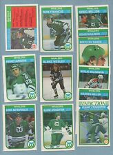 1982-83 O-Pee-Chee Hockey HARTFORD WHALERS Complete Team Set - RON FRANCIS RC