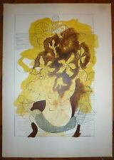 BRAQUE Georges lithographie signée Art abstrait cubisme nature morte fleurs