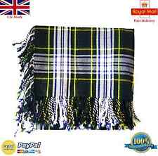 "Highland Scottish Piper Kilt Fly Plaid Dress Gordon Tartan 48""x48"" pulred Fringe"