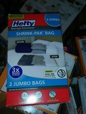 Hefty Shrink-Pak Vacuum Seal Bags, 2 Jumbo Bags W