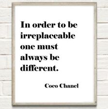 A4 Coco Chanel Inspiration Beauty Typography Print Quote Gift UNFRAMED Poster