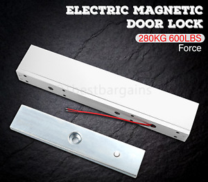 Electric Magnetic Door Lock 600LB 280KG Holding Force for Access Control
