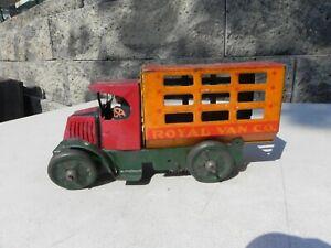 MARX Royal Van Co Tin Litho Wind Up Truck