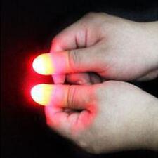 Super Hell Daumen Finger Licht Magie Trick Aprilscherz Hoax Spielzeug 2* Licht