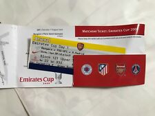 2009 Athletico Madrid / Arsenal / P S G v Rangers  Ticket  Cup With Folder