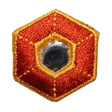 ID 8811 Reflective Hexagon Symbol Patch Gem Shield Embroidered Iron On Applique