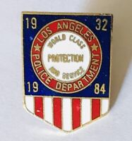 Los Angeles 1984 Police Pin Badge World Class Protection Rare (G12)