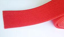"50mm (2"") RED equestrian girth ELASTIC x 10 mts"