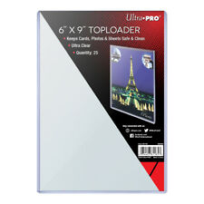 Pack of 25-Ultra PRO 81185-Factory Sealed Clear Rigid Standard 6X9 Toploaders