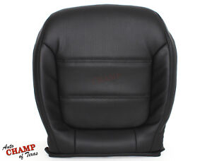 2011-2016 VW Jetta -Driver Side Bottom Replacement Leather Seat Cover Black