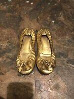 Tory Burch Gold Ballet Flat Size 9