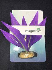 Imagitarium Purple Burst Silk Aquarium Plant, Small
