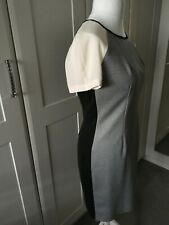 Woman's next dress size 12 grey/black /cream used excellent size