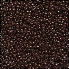 15/0 Opaque Oxblood TOHO Round Glass Seed Beads 10 grams #46