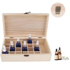 25 Slot Essential Oil Storage Box Wooden Case Aromatherapy Organizer Compact